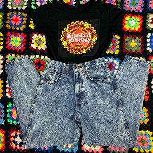 80s Chic High Rise Acid Wash Jeans